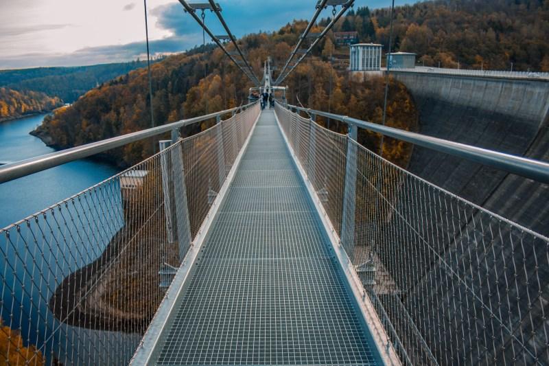 Die Seilhängebrücke an der Rappbodetalsperre