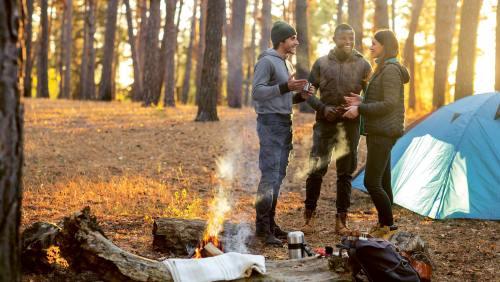 Ein Trekkingplatz ist auch eine gute Gelegenheit zum Austausch mit anderen Gleichgesinnten.
