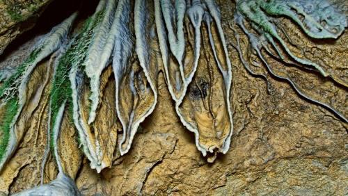 Jahrtausendealtes Design der Natur: Sinterfahnen und Sinterröhrchen