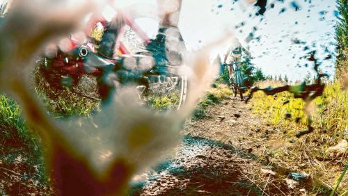 Mountainbikern fliegt die Landschaft manchmal regelrecht um die Ohren.