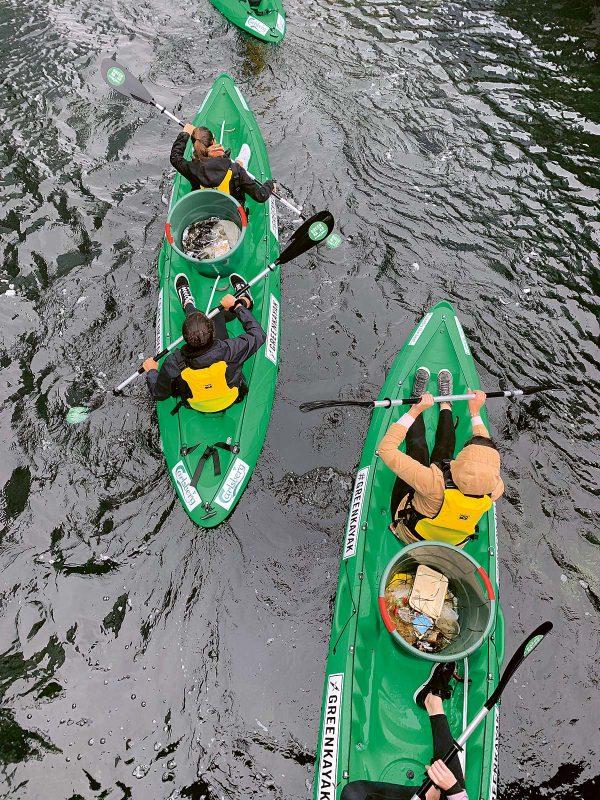 Umweltinitiativen haben es sich zur Aufgabe gemacht, Flüsse vom Müll zu befreien.
