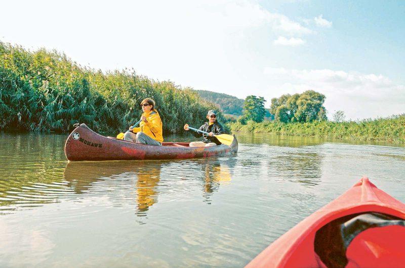 Die Werra: der perfekte Fluss für eine Genusstour mit Kanu oder Kajak