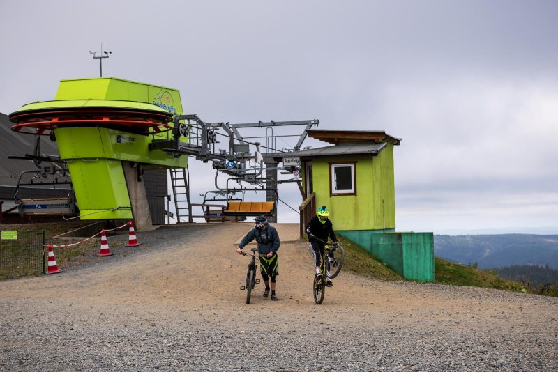 Mountainbiker auf dem Erlebnis-Bocksberg
