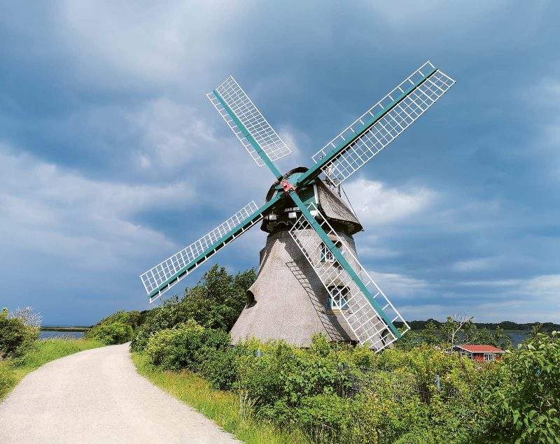Mühle Charlotte, ein Wahrzeichen der Geltinger Birk und heute im Privatbesitz