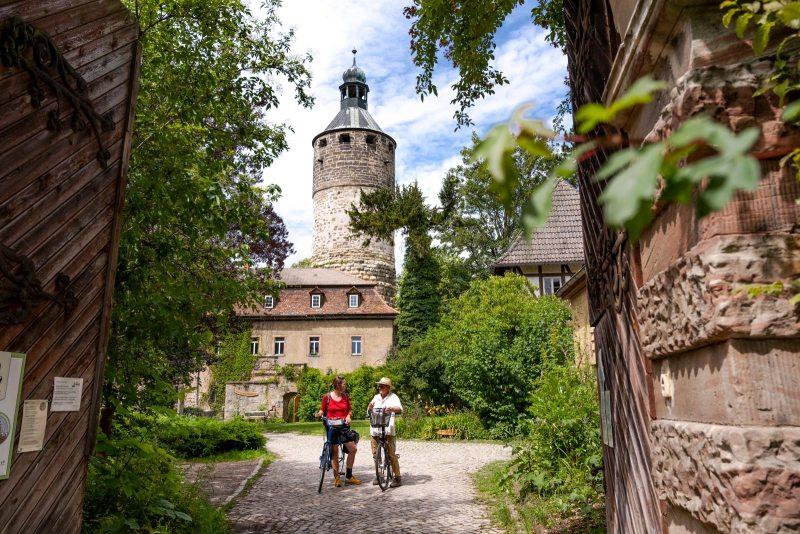 Schloss Tonndorf Radfahrer