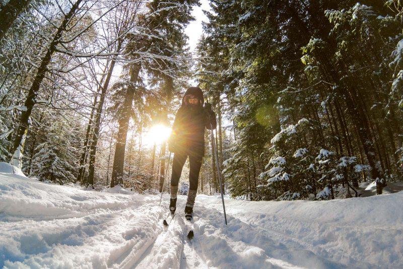 54 Loipen in unterschiedlichen Höhenlagen bieten Langläufern und Skiwanderern beste Bedingungen.